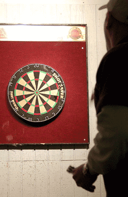 Never change your dart throwing pace.