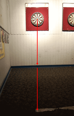 The dart throwing line